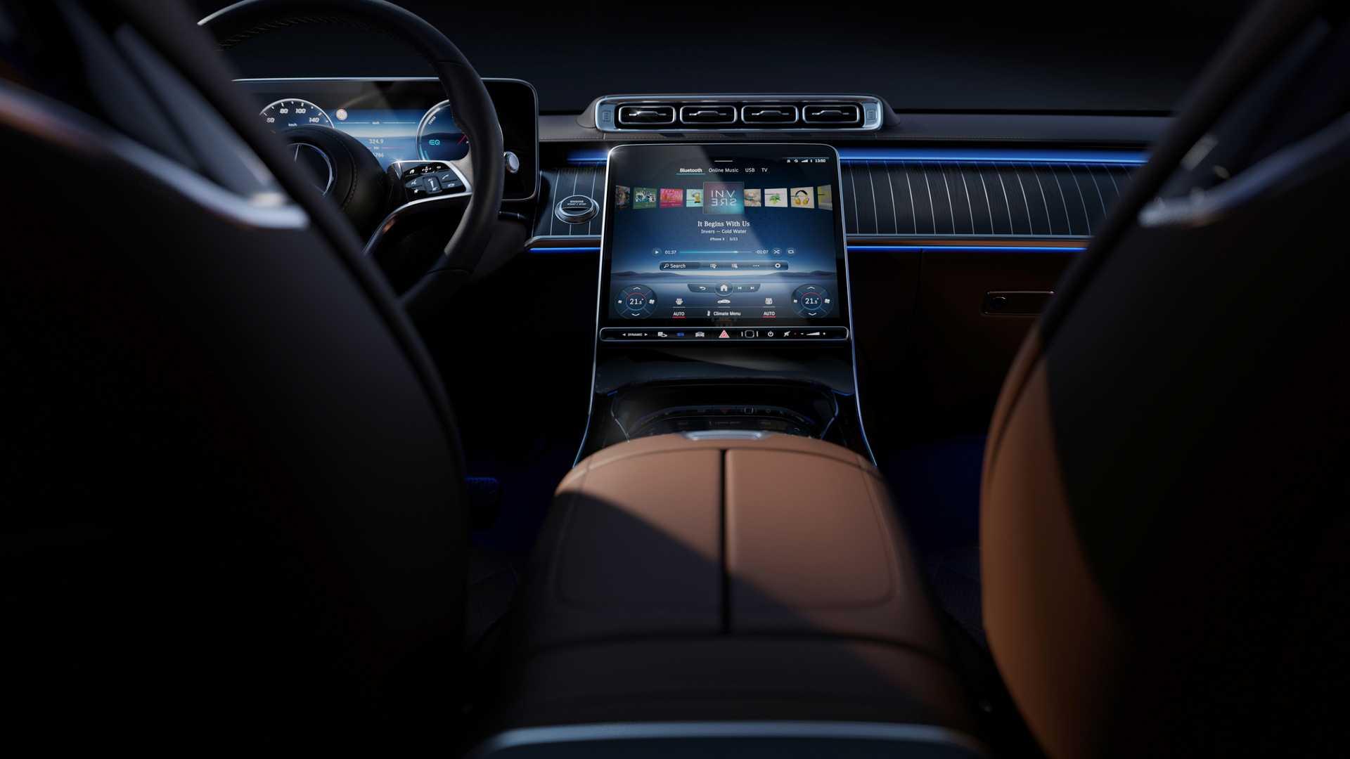 Mercedes-Benz giới thiệu chi tiết nội thất S-Class thế hệ tiếp theo sang trọng và khỏe mạnh