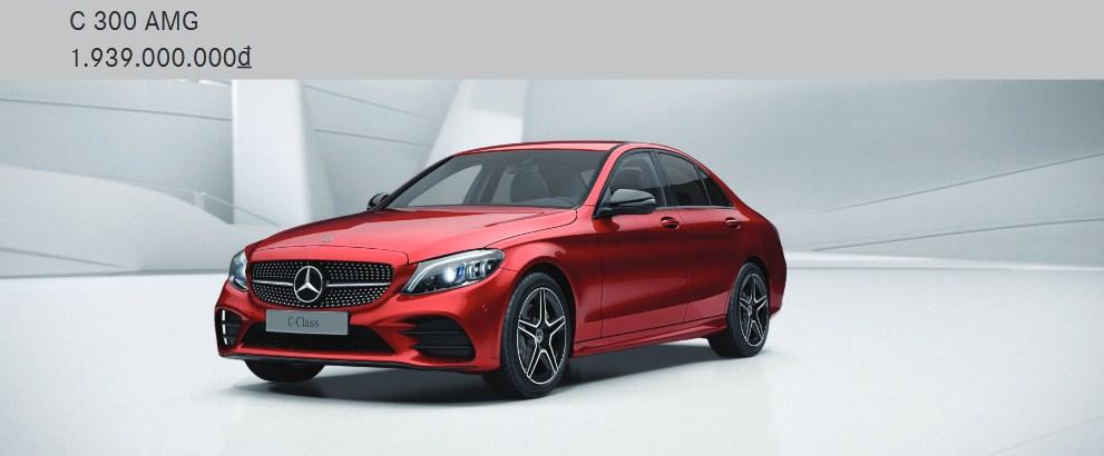 Giá xe Mercedes C300 AMG 2021 chính thức là 1.939.000.000 VNĐ